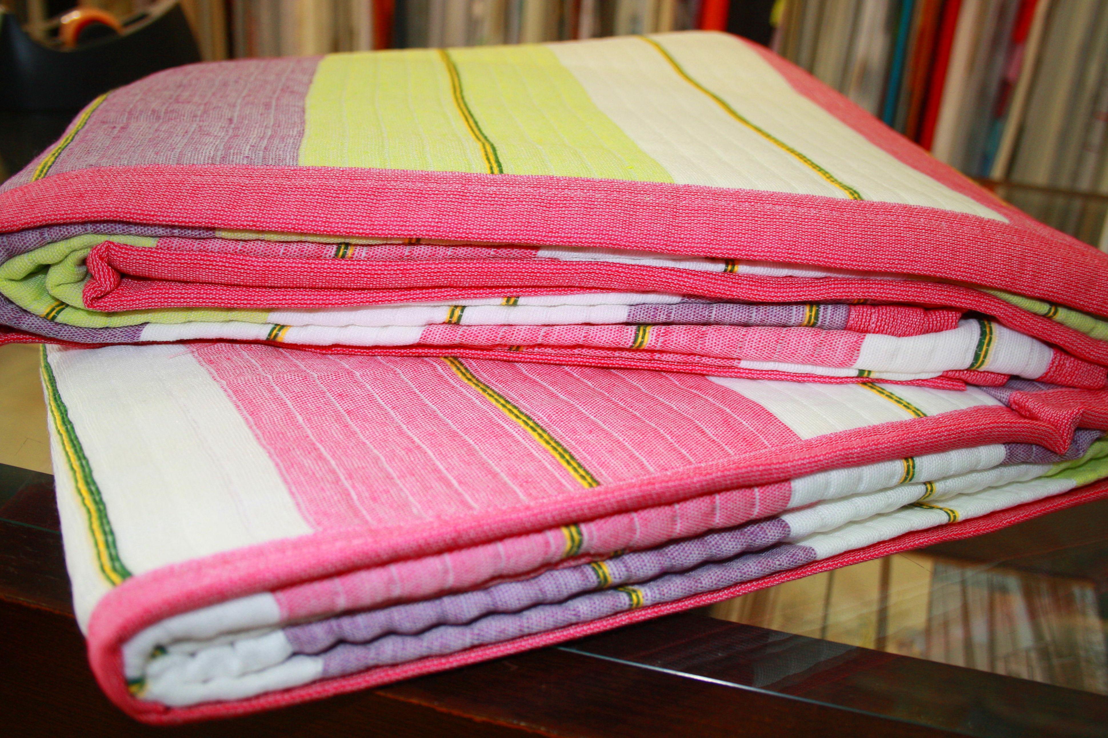 Colcha lineas rosa y verde cama 1.50 cm.: Catálogo de La Cibeles