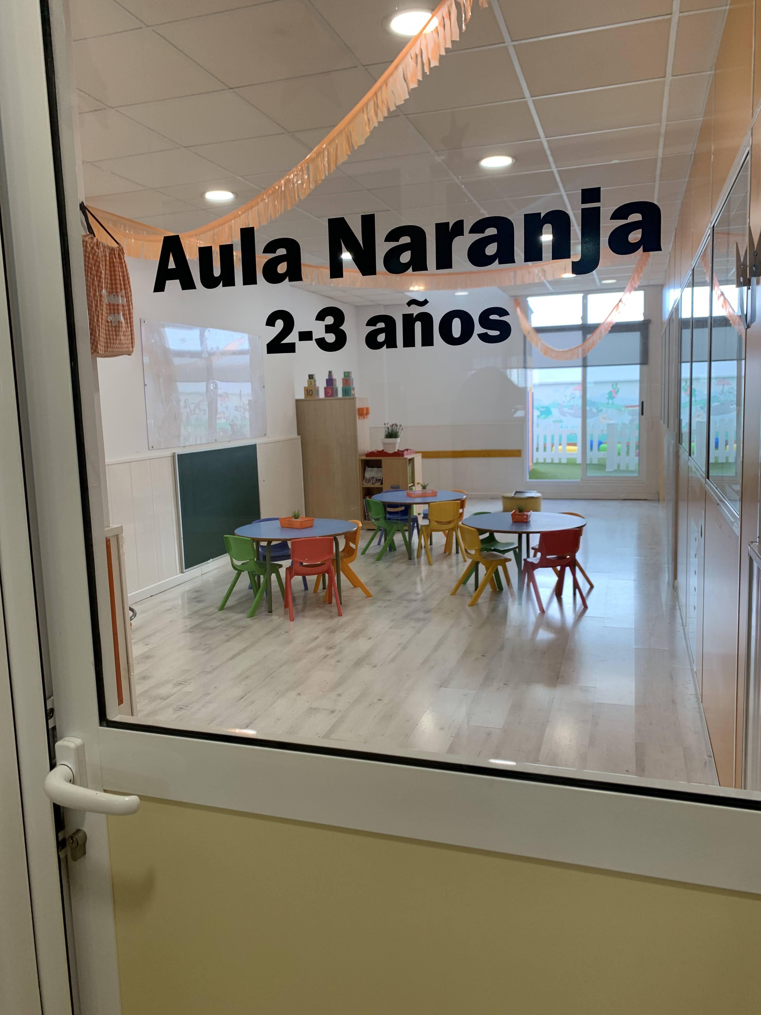 Aula Naranja, aula de 2 a 3 años