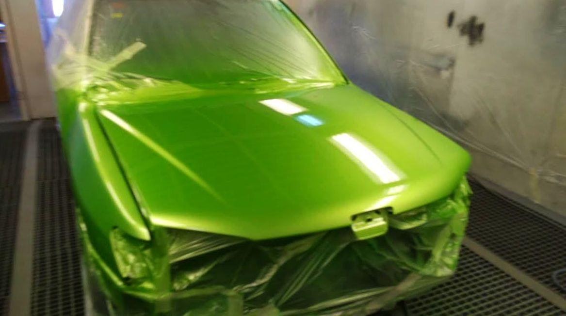 306 verde electrico chapa pintura valdemoro
