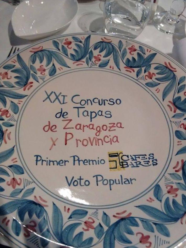 Primer premio concurso de tapas de Zaragoza y provincia