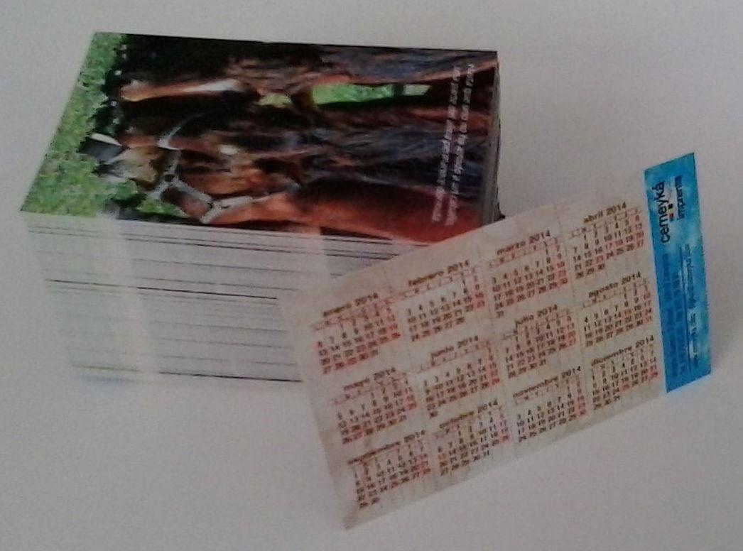 Impresión digital de calendarios de bolsillo en Zaragoza