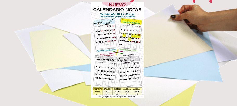 Impresión de calendarios en Zaragoza
