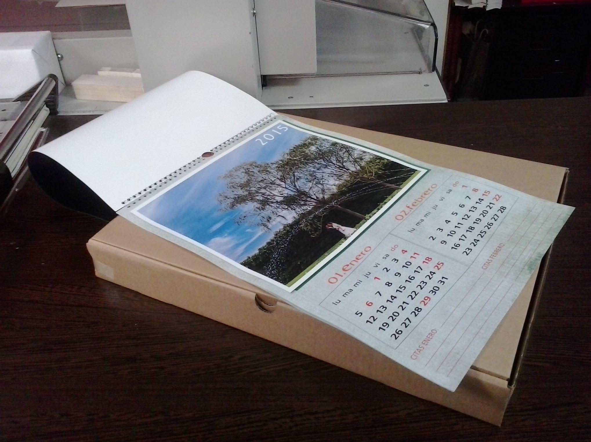 Impresión digital calendarios personalizados en Zaragoza