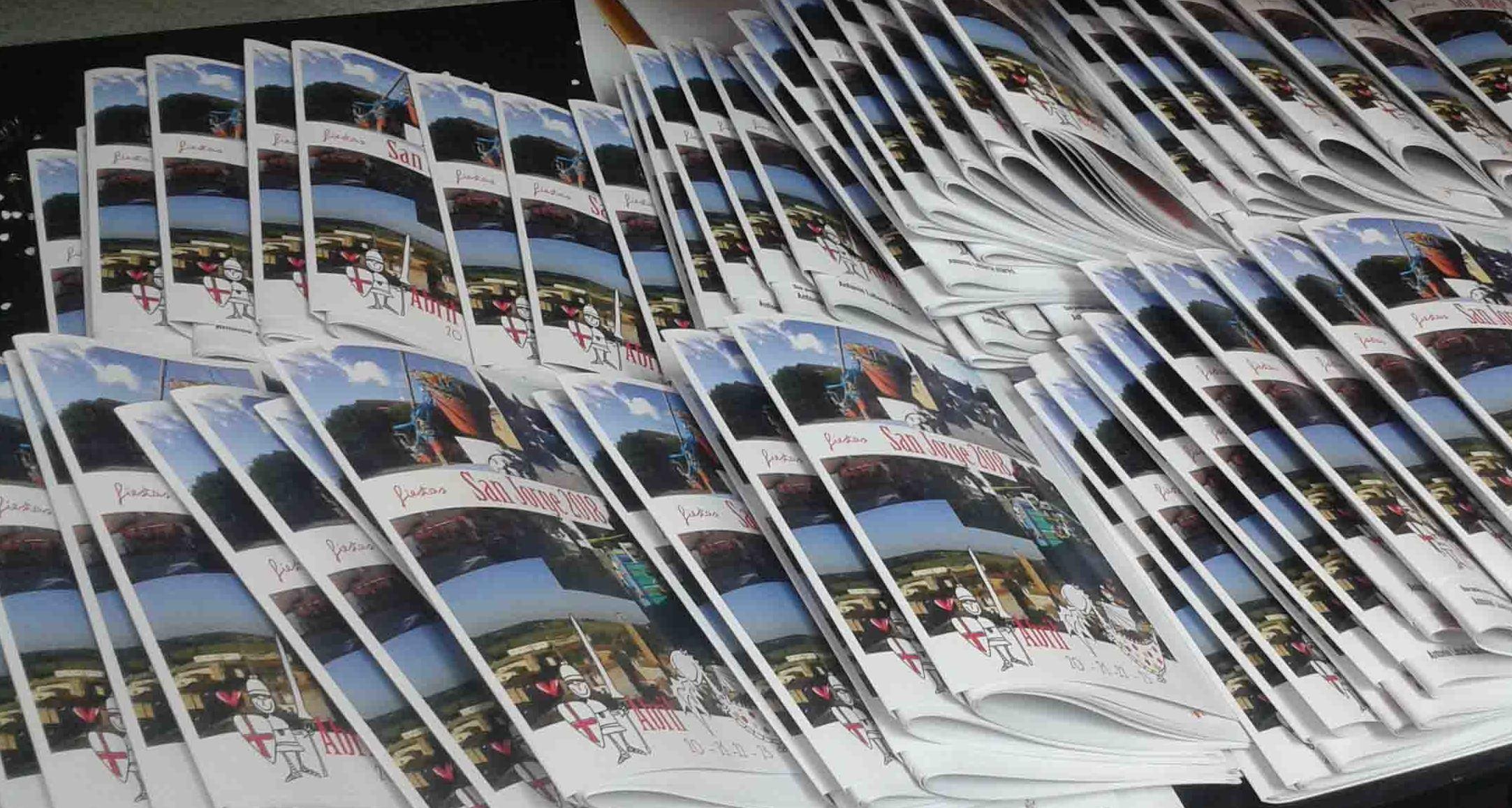 Impresión digital de programas de fiestas en Zaragoza