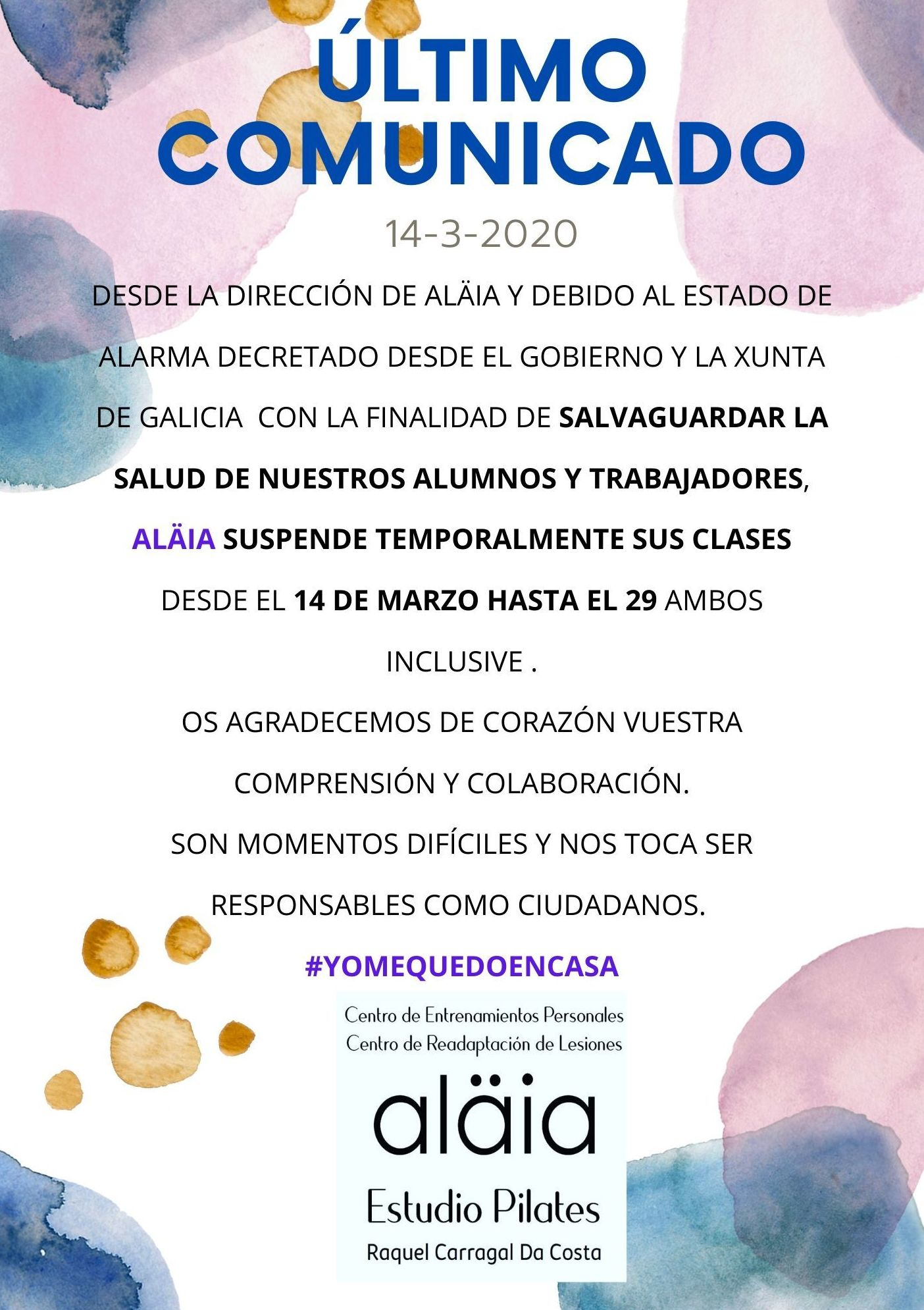 Comunicado Aläia -Covid19