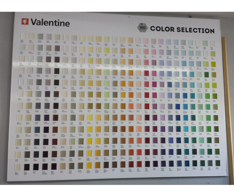 Carta de colores para interiores