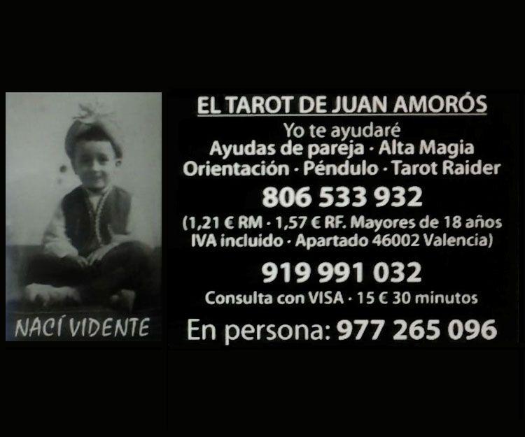 Tarot telefónico: Servicios de Juan Tarot Videncia