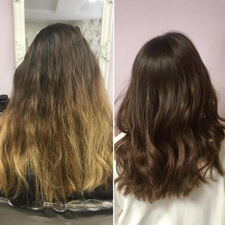 Renueva tu color al tiempo que cuidas tu cabello.!! Resultado espectacular.