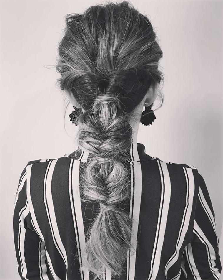 Recogido informal para un estilo espectacular. Buble braid
