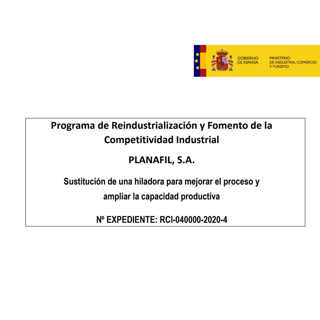 Programa de Reindustrialización y Fomento de la Competitividad Industrial