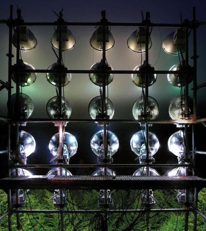 Montaje de andamios para sistemas de iluminación