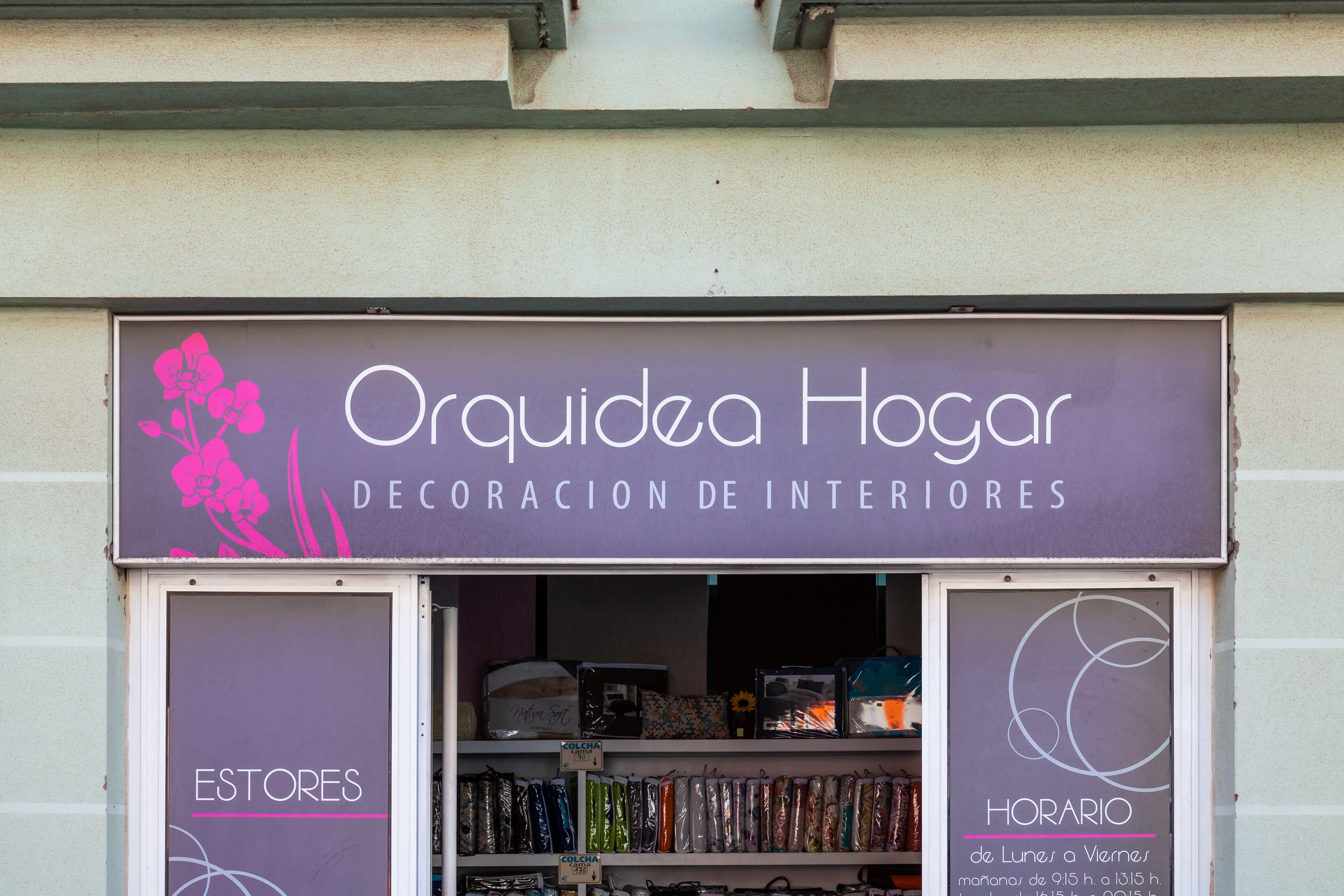 Rótulo Orquídea Hogar