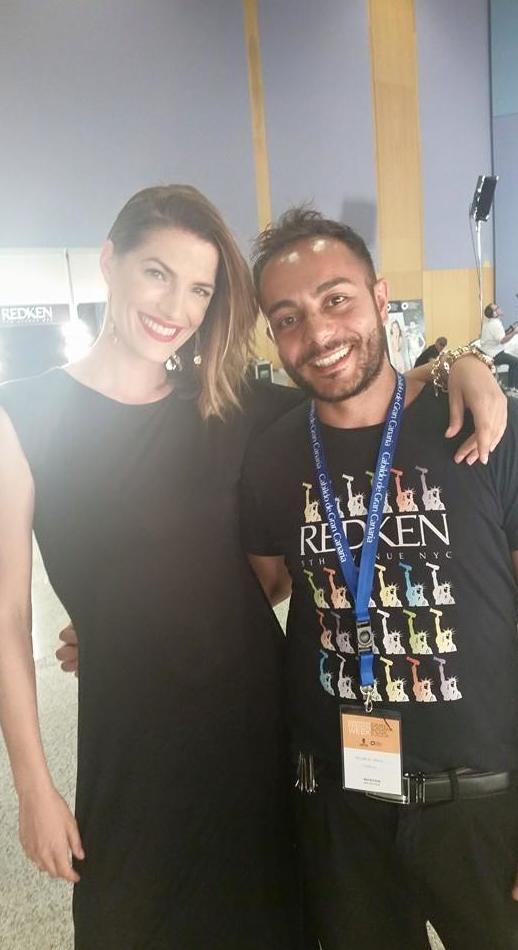 Con Laura Sanchez en Moda Cálida