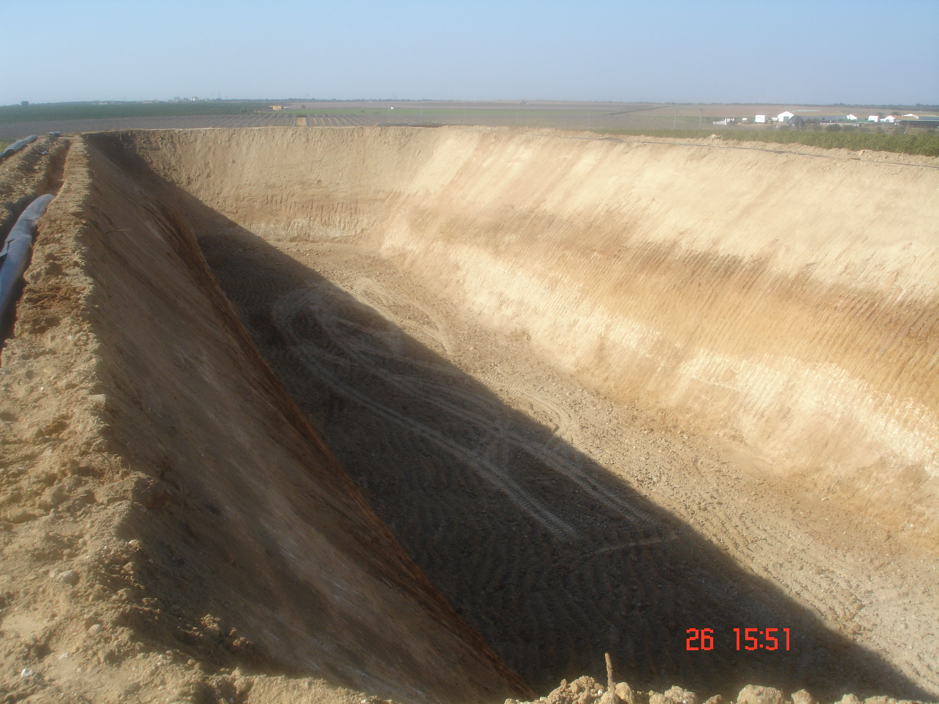 Excavaciones para embalses de agua