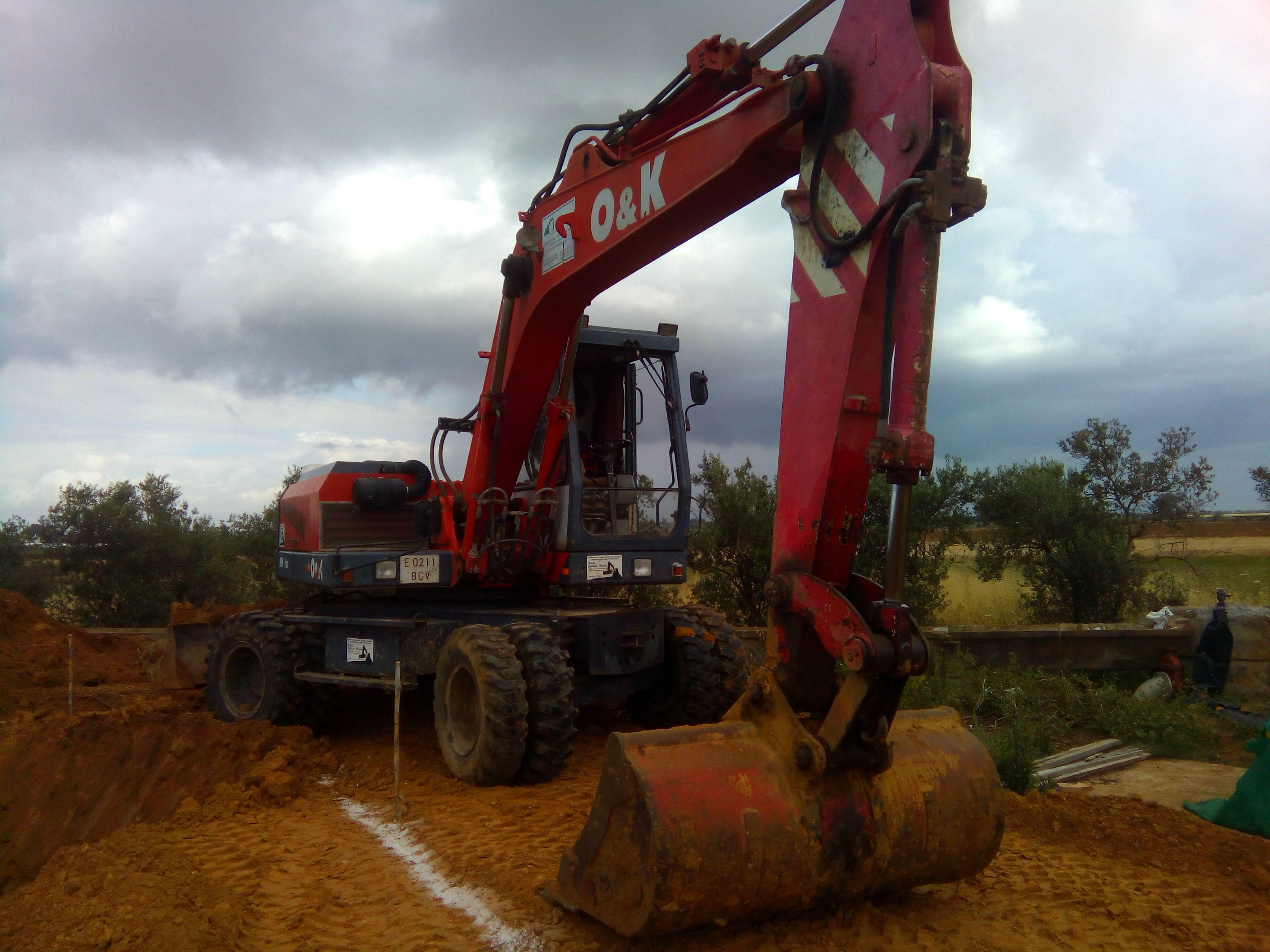Maquinaria específica para hacer excavaciones