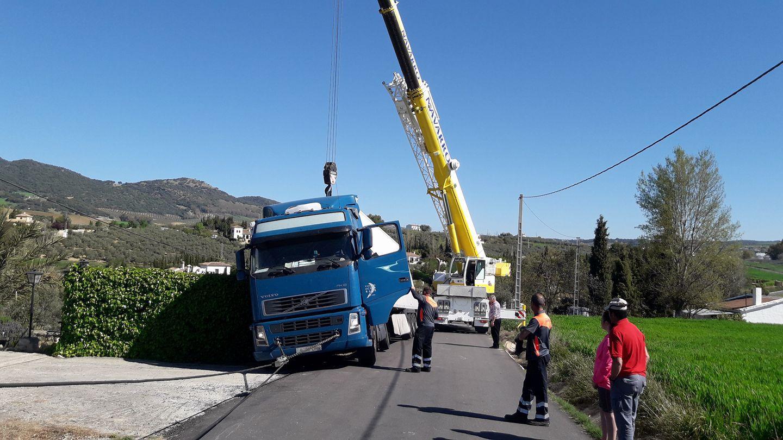 Grúas para rescates en Málaga