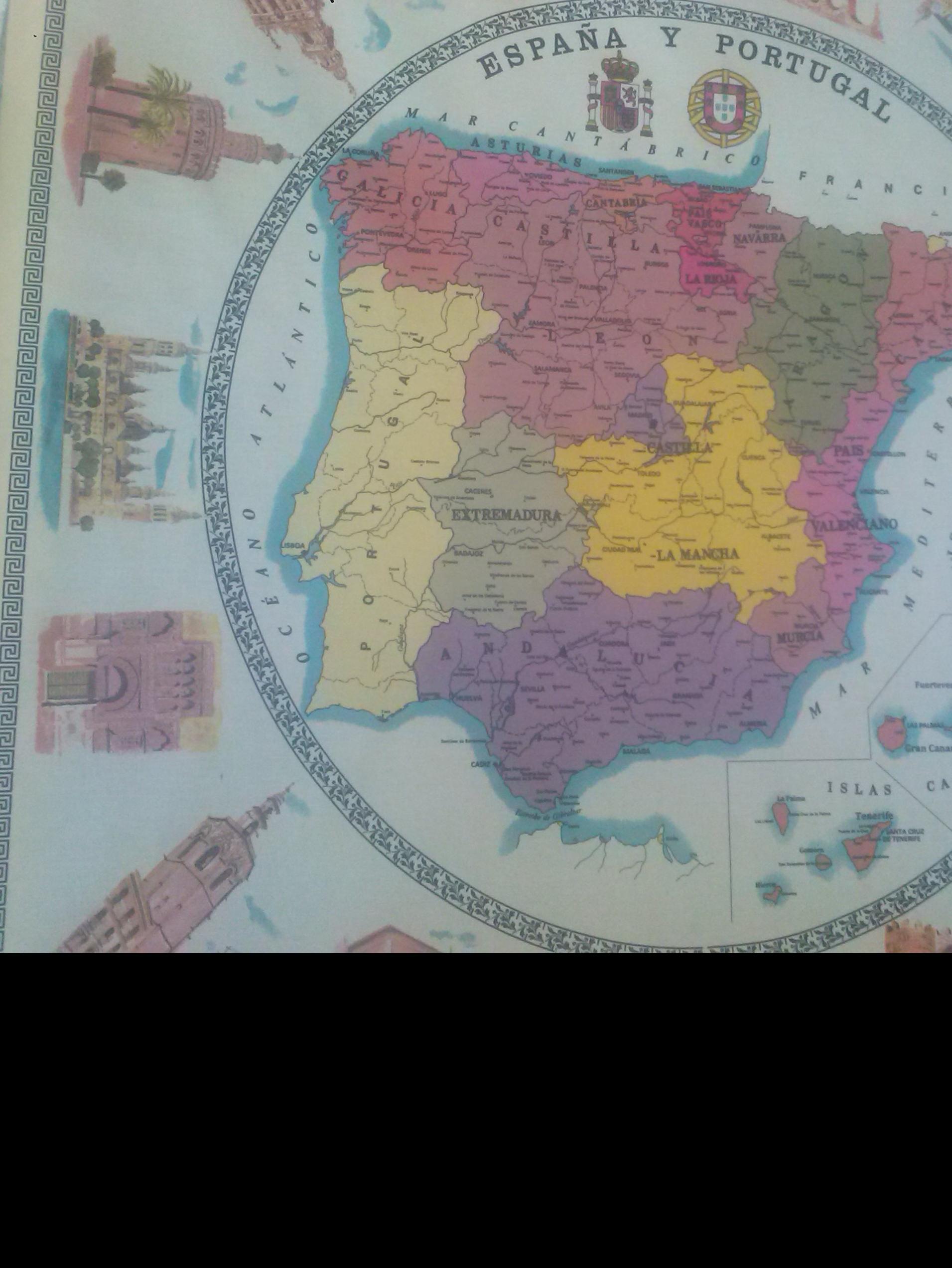 Hule Mapa España De Orbiplast S L