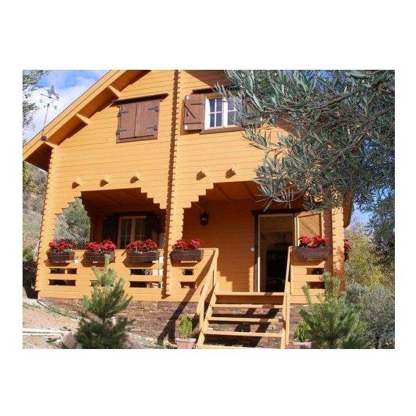 Alicia (102 m2): Casas de madera de 5SCC Casas de Madera