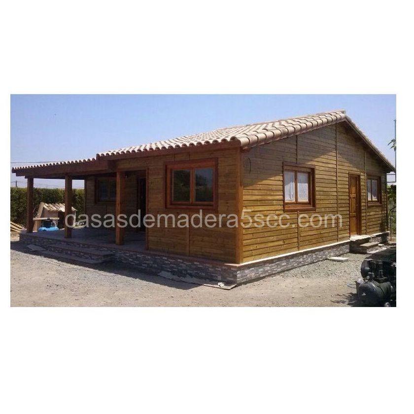 Sandra (96 m2): Casas de madera de 5SCC Casas de Madera