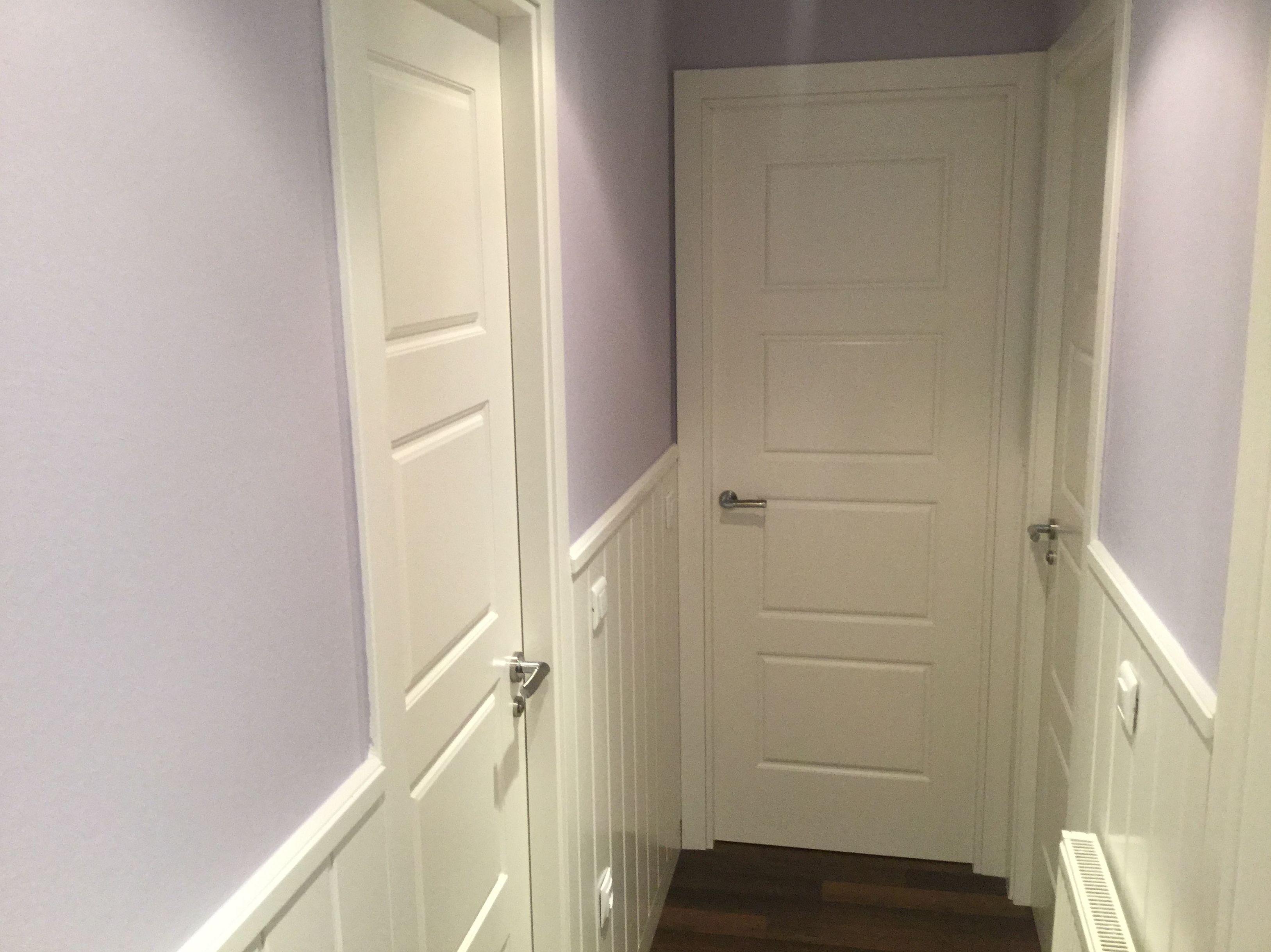 Puertas de madera lacada en blanco