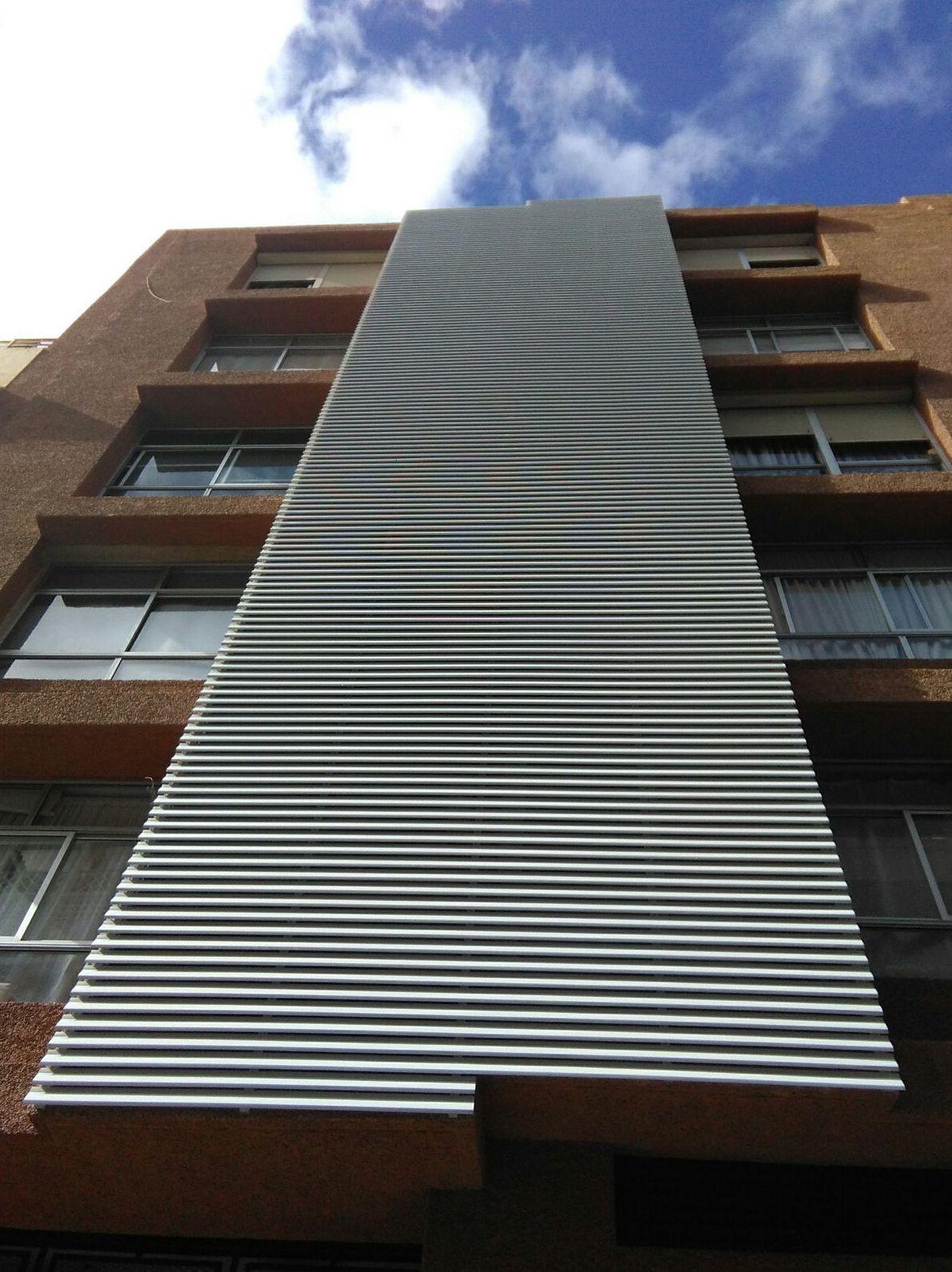 Sistema de lamas de PVC en horizontal