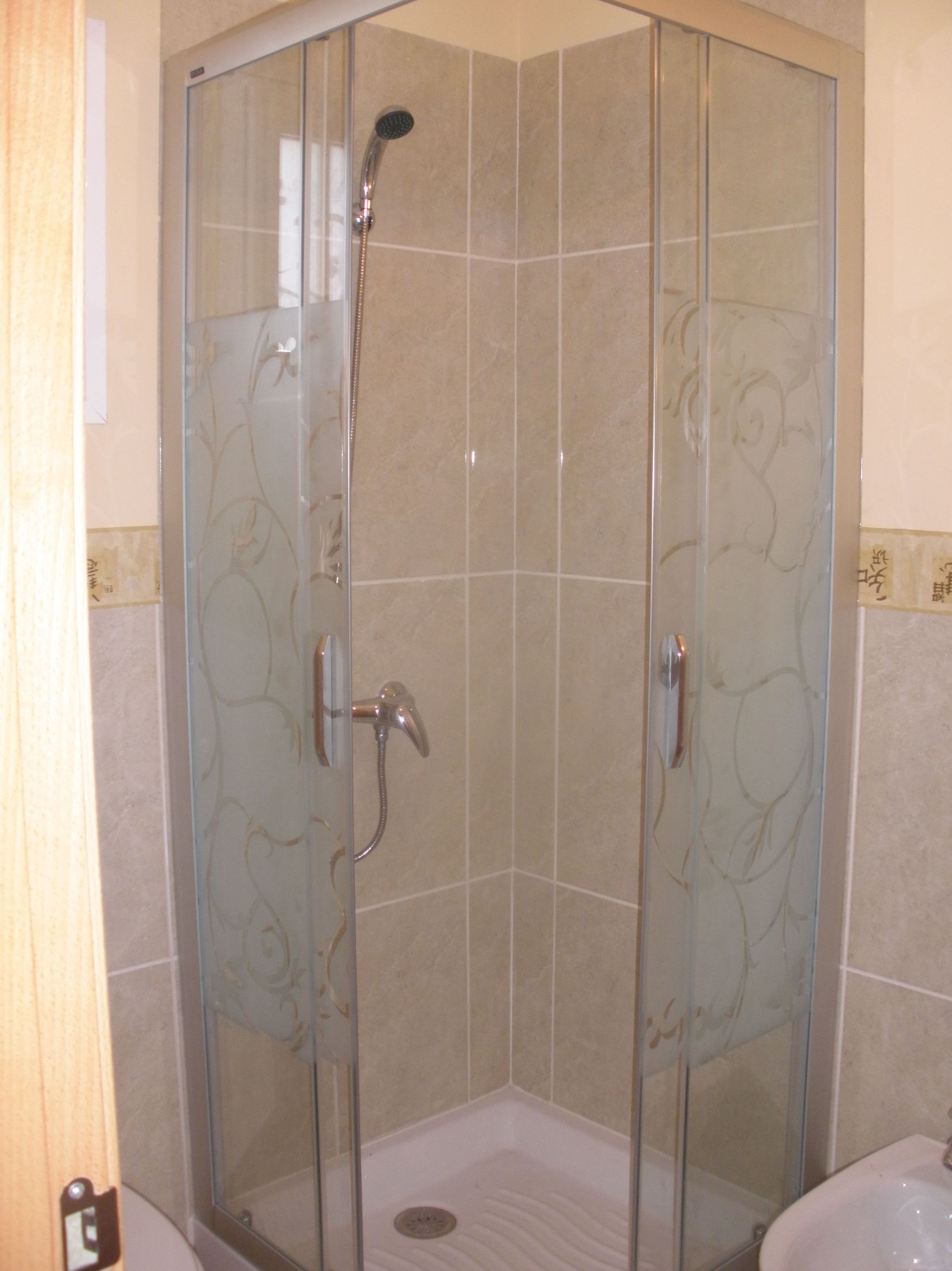 Mampara para ducha con puertas correderas