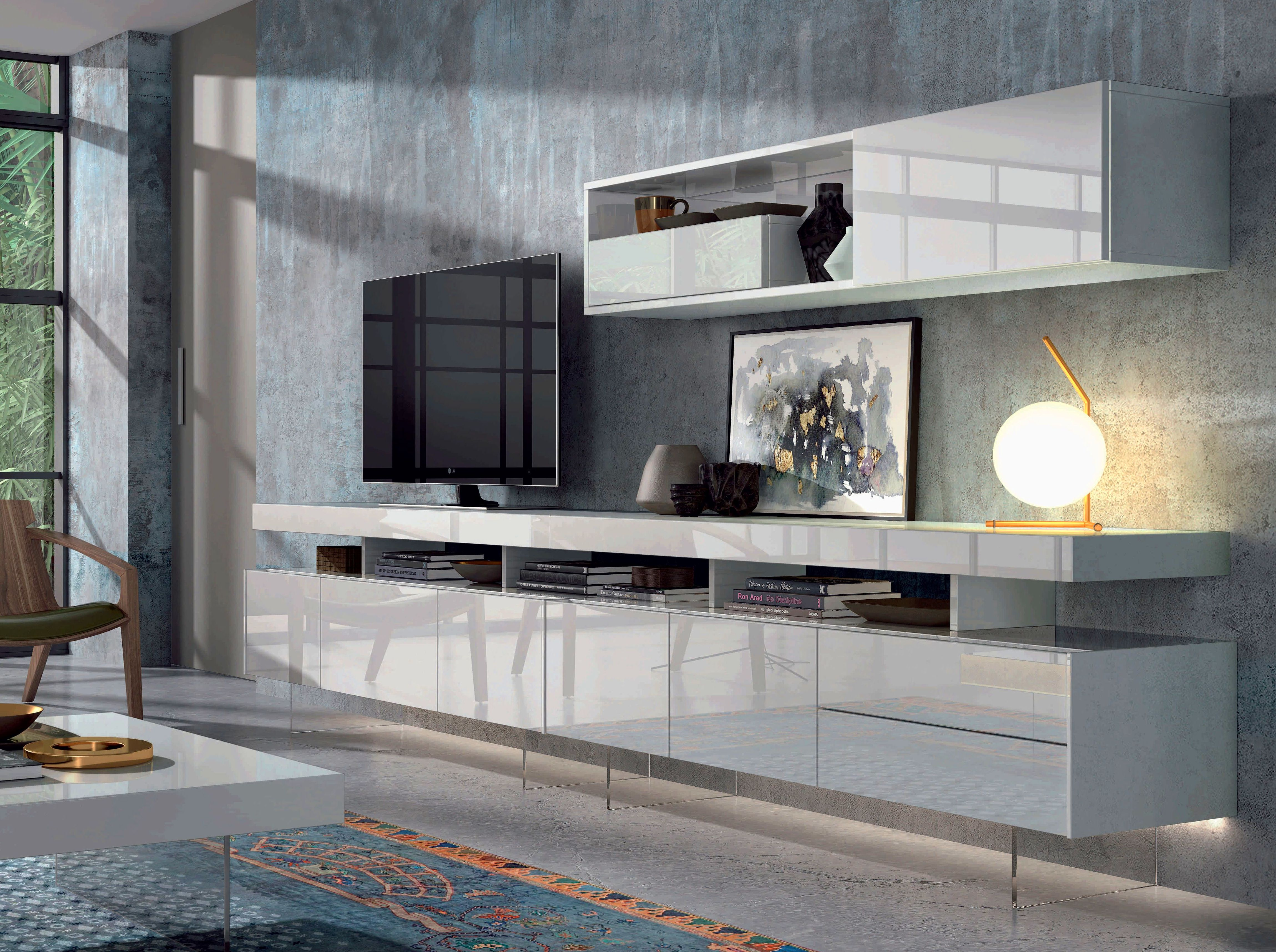 Apilable Salón Moderno Madrid Lacado Brillo