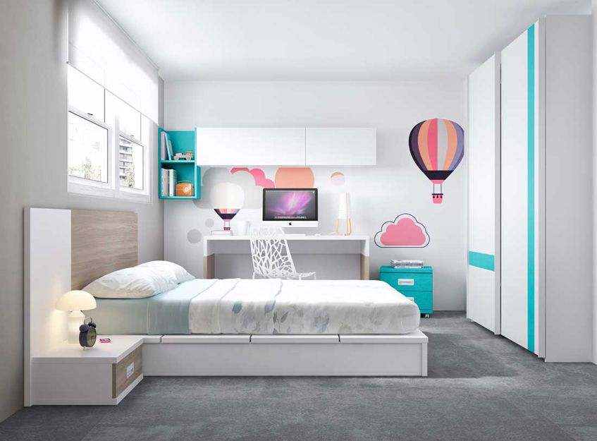 Dormitorio juvenil moderno en Getafe