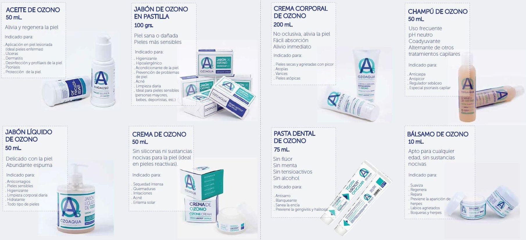 Gama productos con Ozono