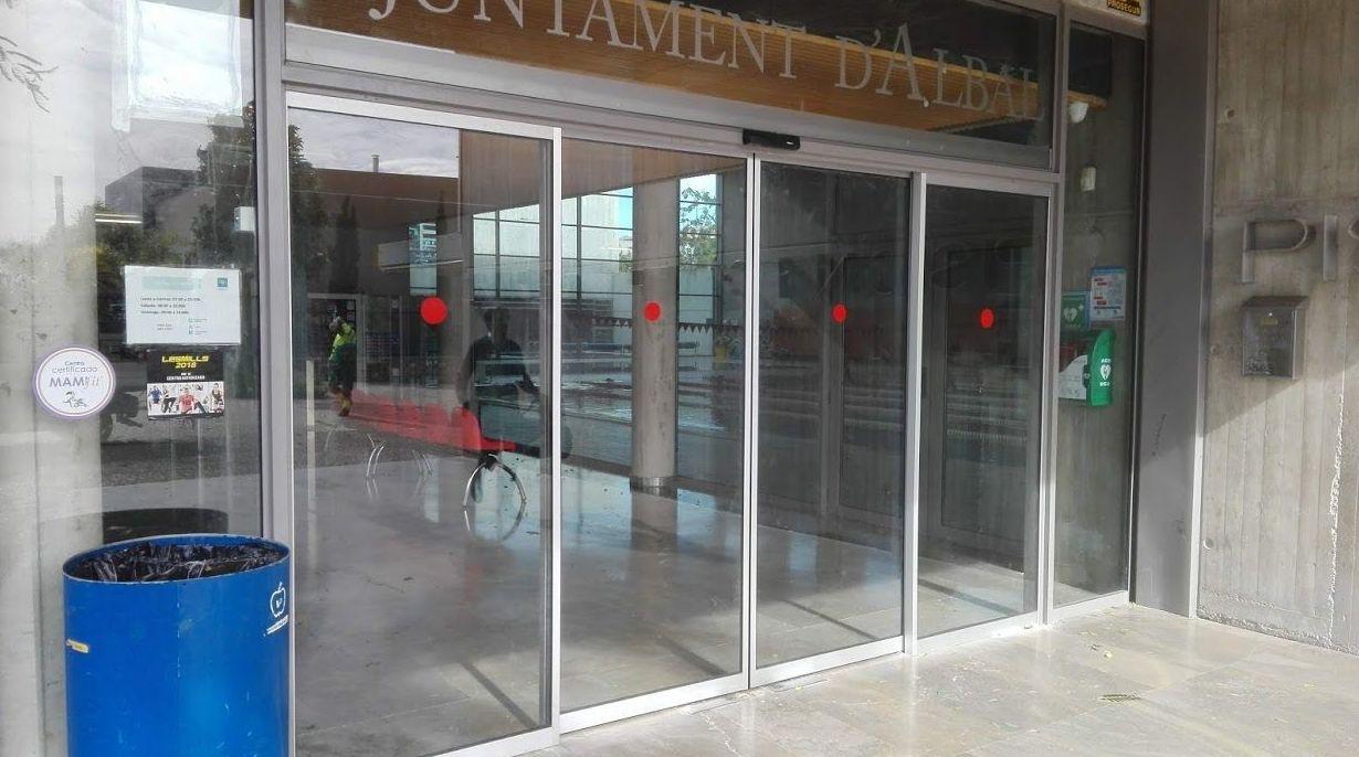 Puerta de cristal corredizas automáticas sistema FR evacuación