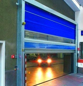 Puertas rápidas de lona y pvc enrollables
