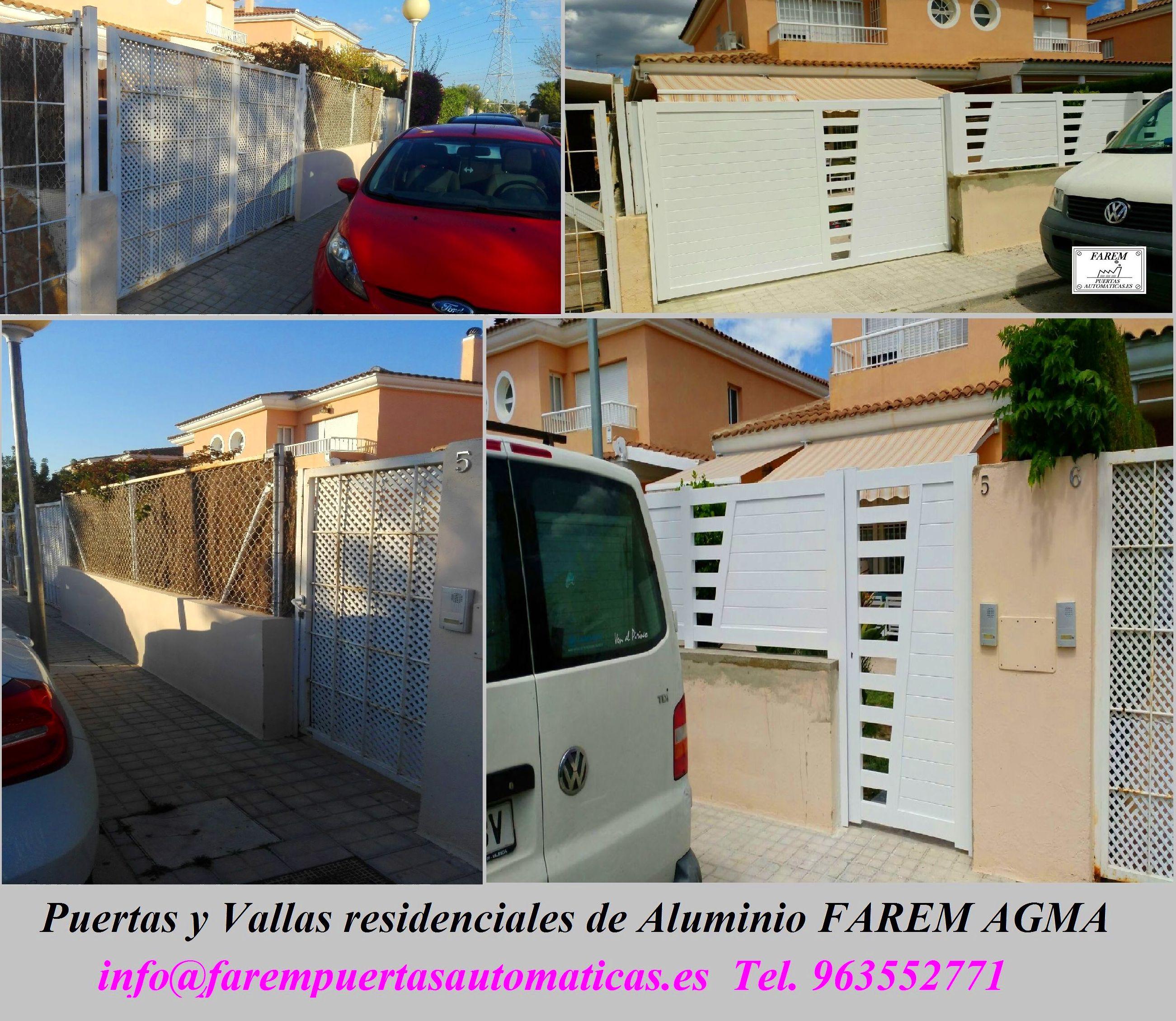 Puertas y Vallas de Parcela de Alumino Blanco FAREM AGMA
