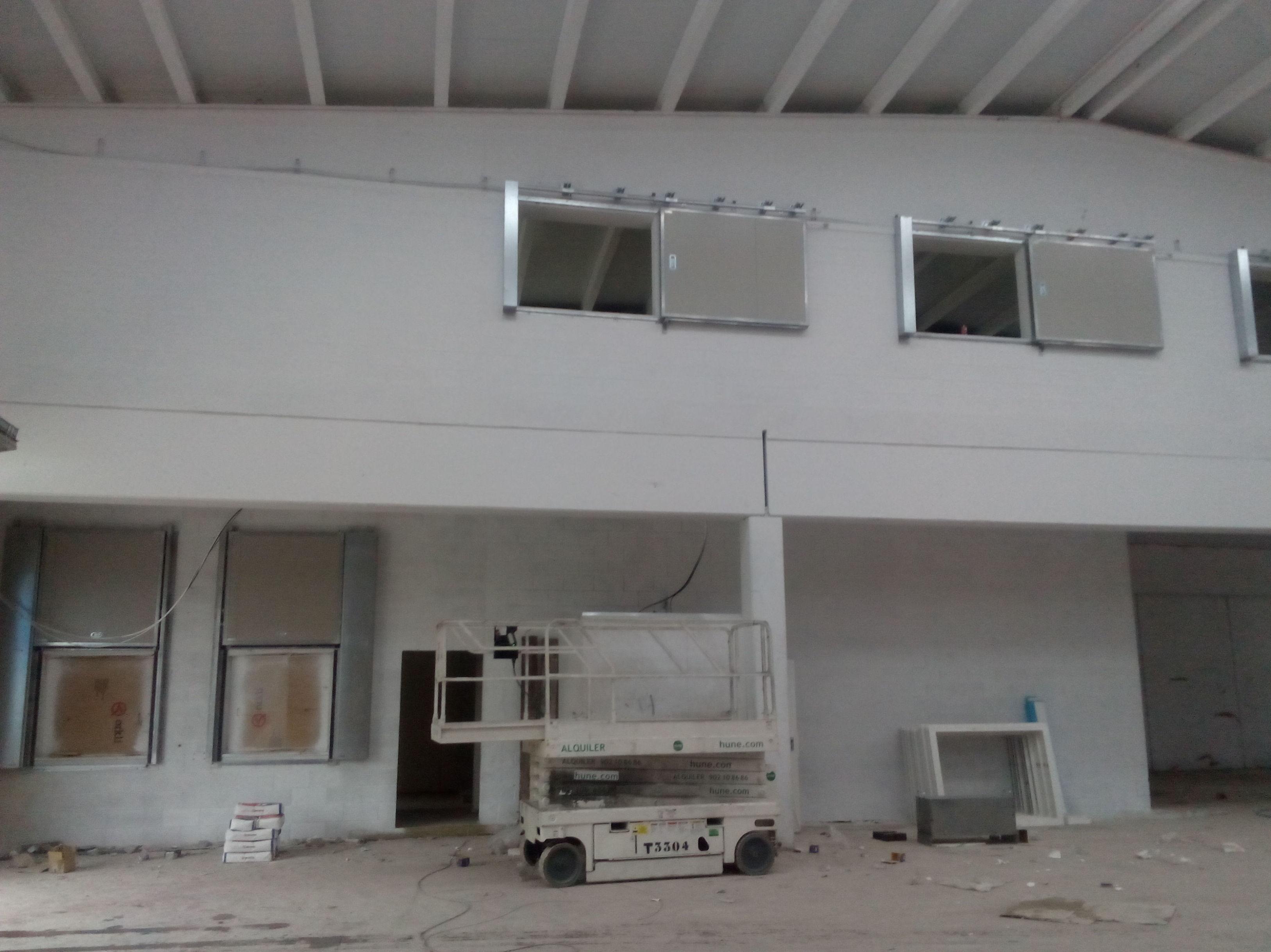 Puerta cortafuegos correderas certificadas de una hoja para ventanas de oficinas