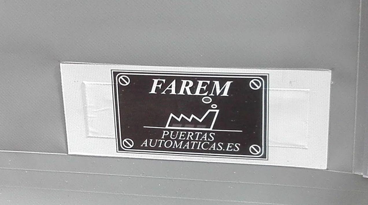 Puerta apertura rápida de lona Farem auto full