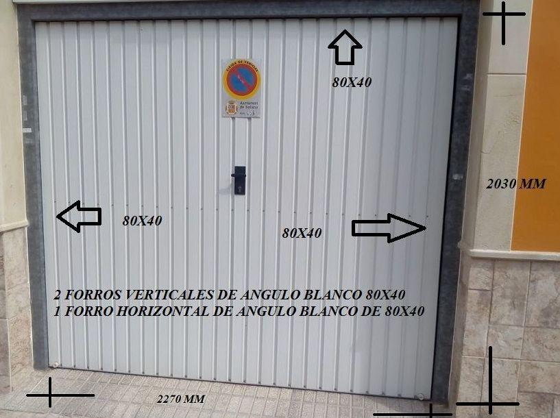 Puerta de garaje basculante de muelles cambio por puerta seccional mismo marco sin obras