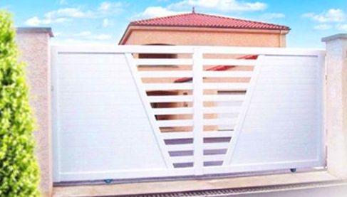 MODELO para Puertas y Valla de Parcela de Alumino Blanco FAREM AGMA