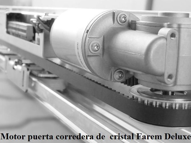 Motor puerta corredera de cristal Farem Deluxe