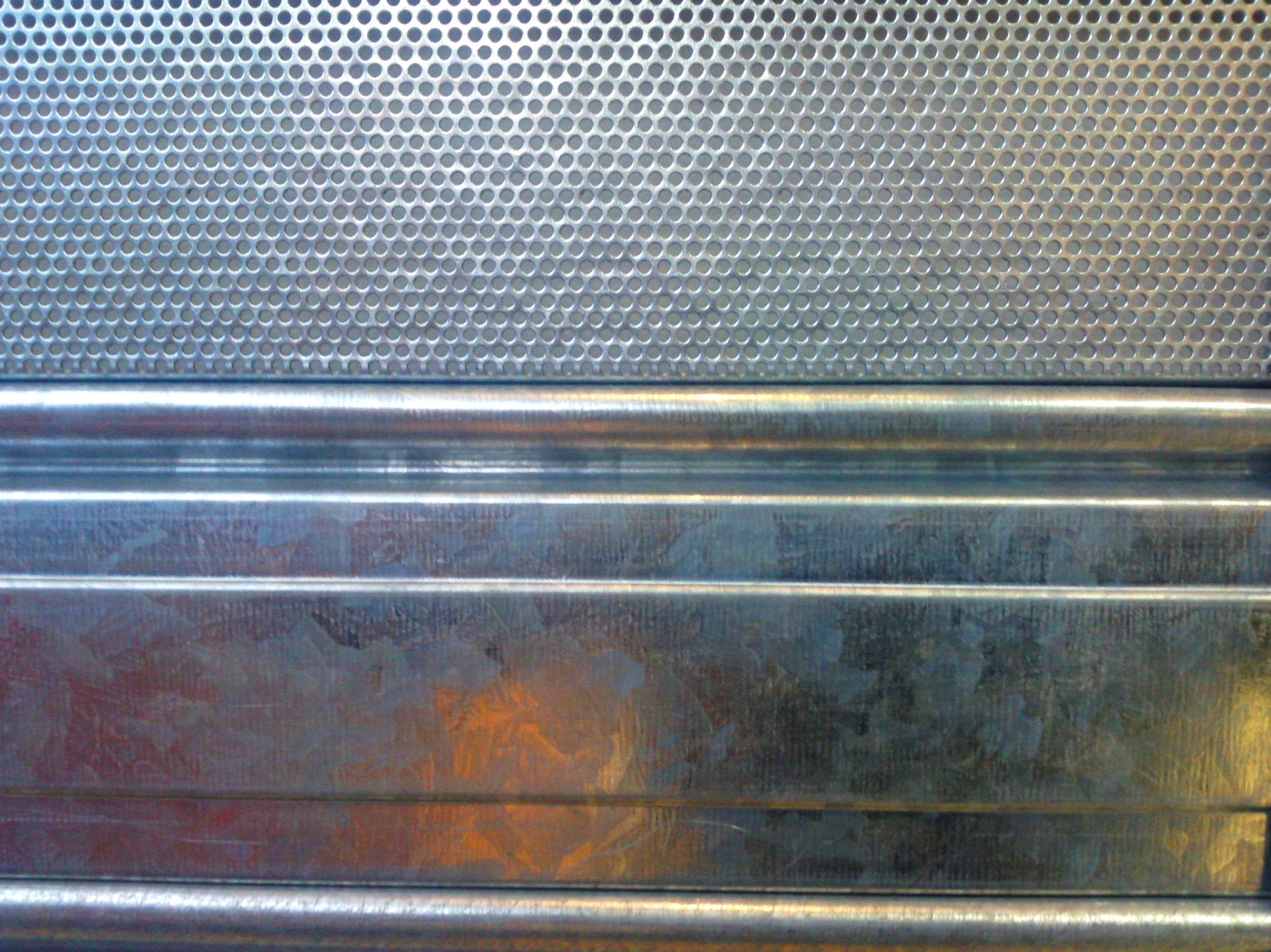 Lamas de puerta enrollable de chapa galvanizada y microperforada
