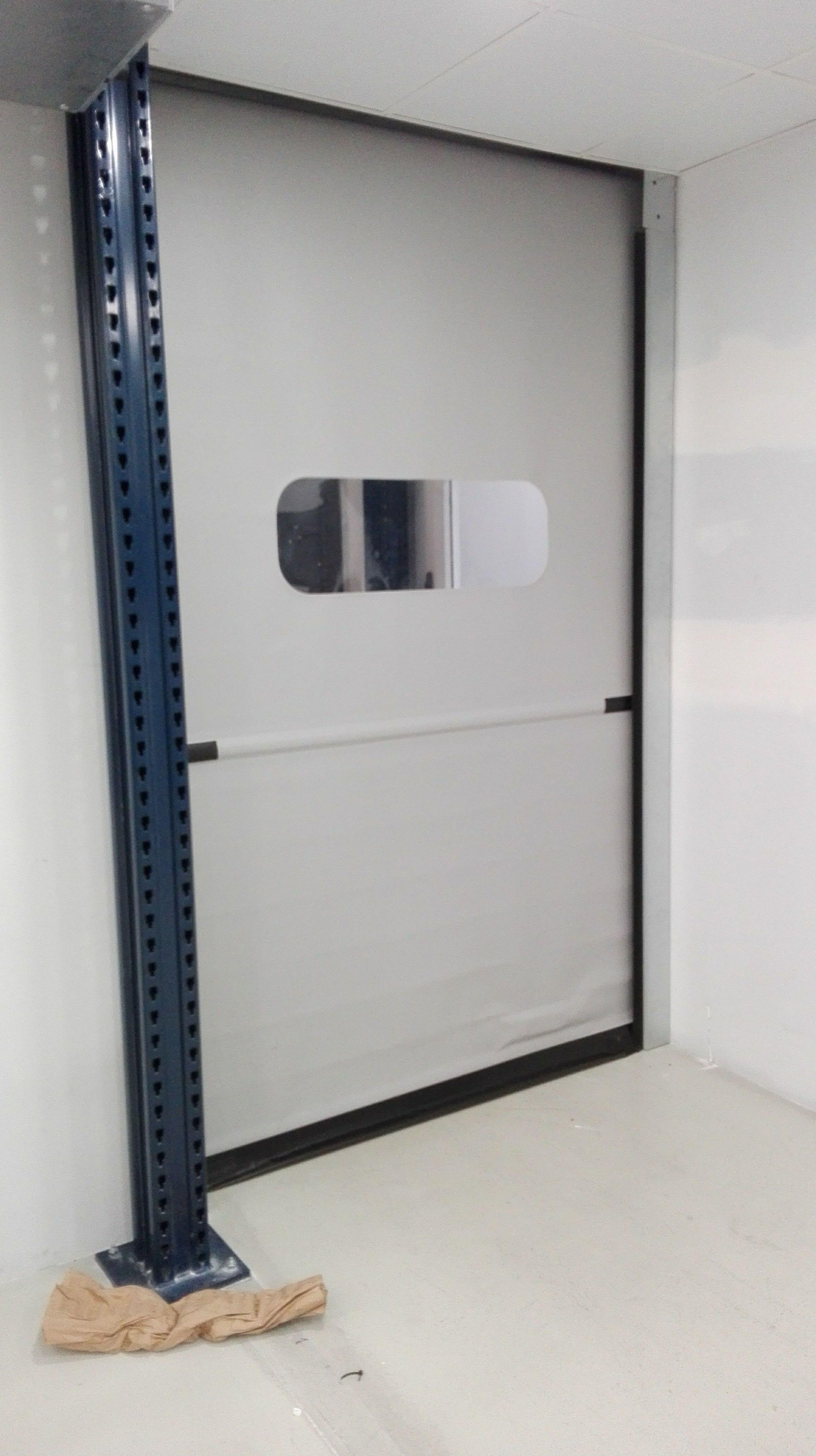 Puertas rápidas de lona de pvc enrollables