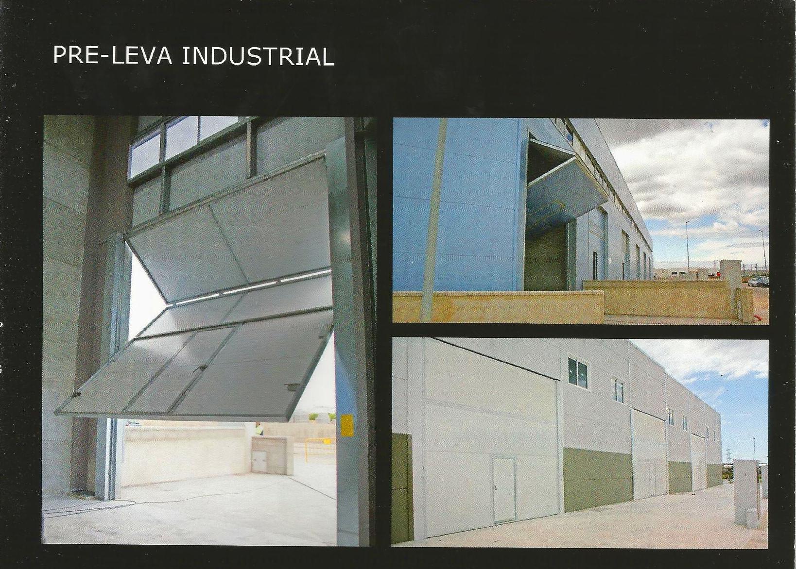 Puerta basculante de contrapesos plegable industrial