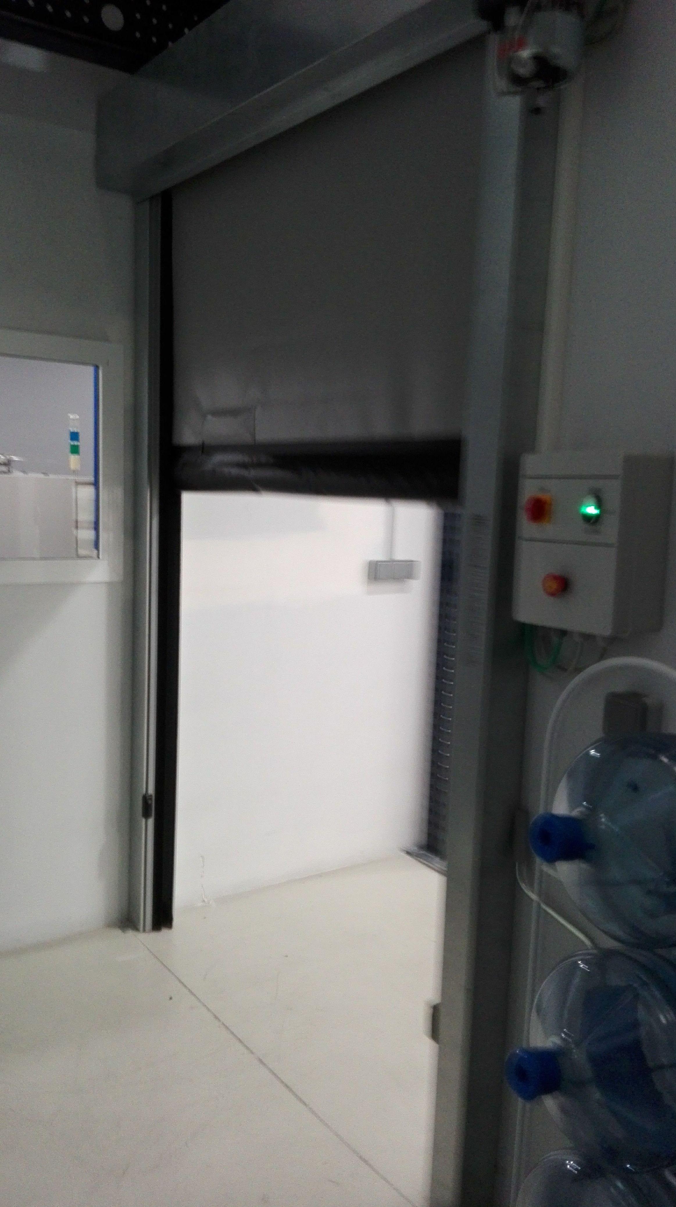 Puertas rápidas lona de pvc anti desgarro enrollables
