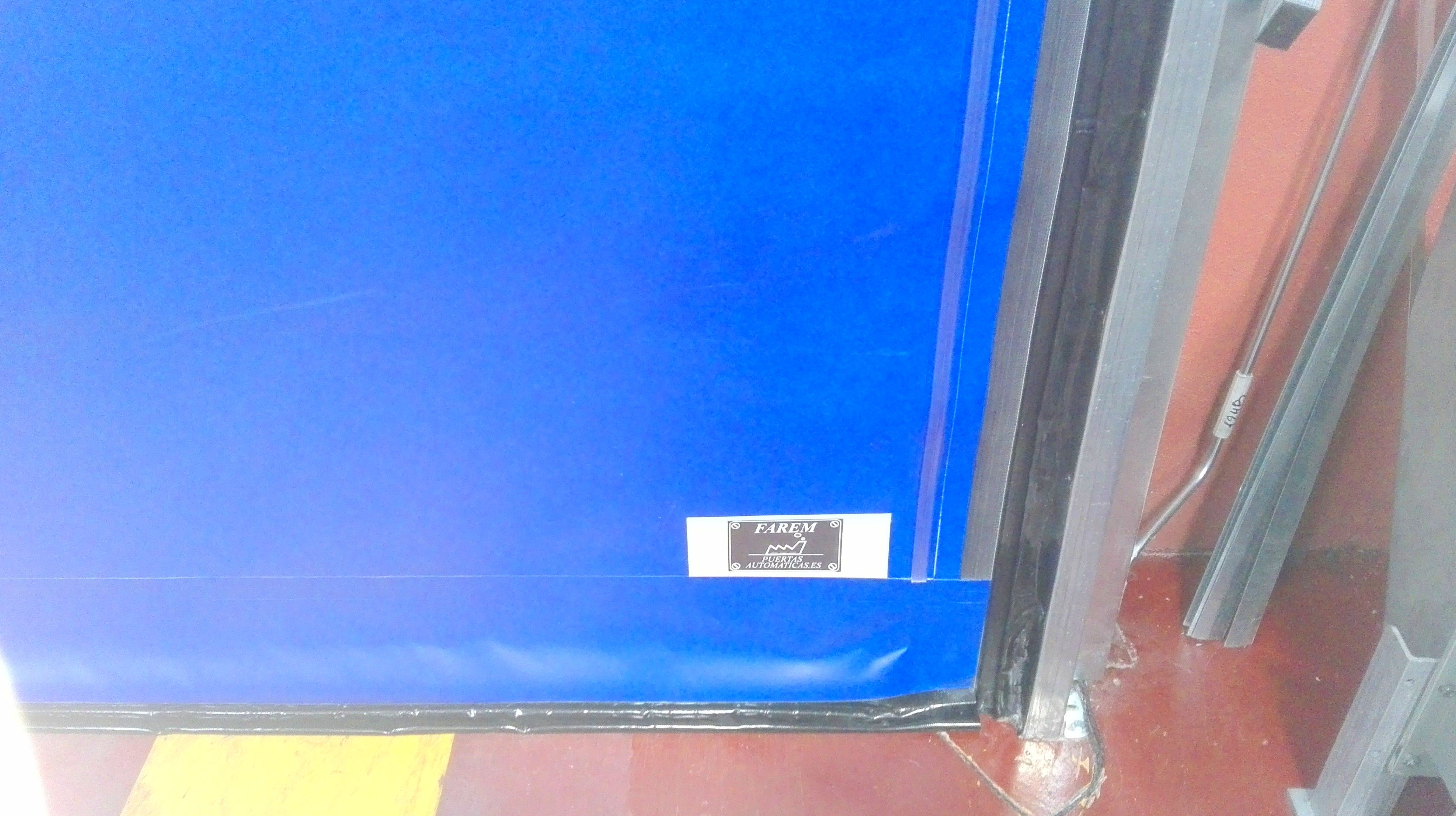 Puerta rápida lona 1200grm2 cremallera deslizamiento