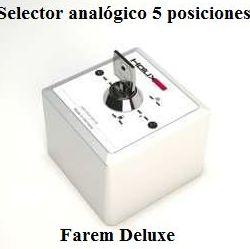 Selector analógico 5 posiciones Farem Deluxe
