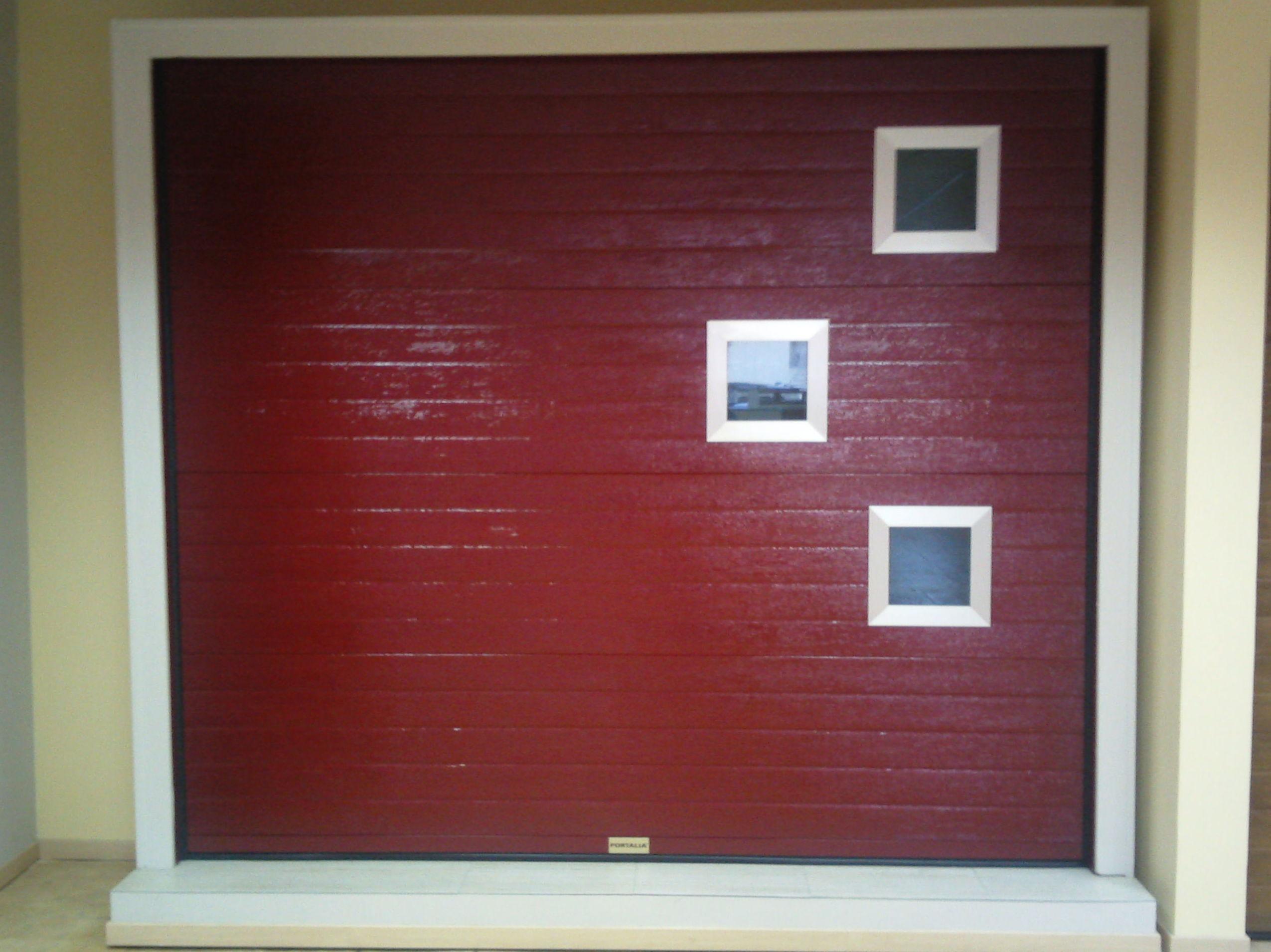 Puerta Seccional ventanas diseño