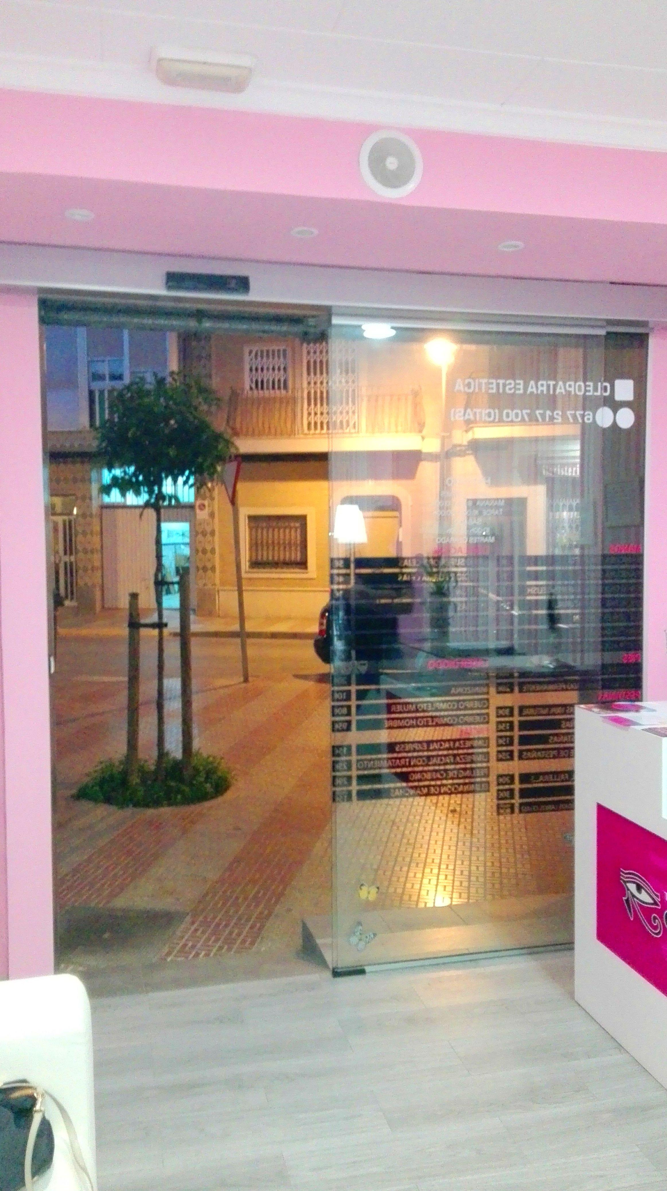 Puerta de cristal automática de 1 hoja corredera tecnología alemana