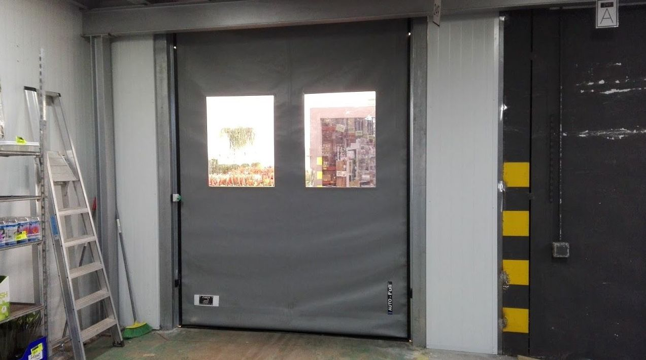 Puerta apertura rápida de lona de pvc enrollable autorreparable Farem auto full