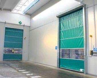 Puertas rápidas de lona y pvc apilables plegables