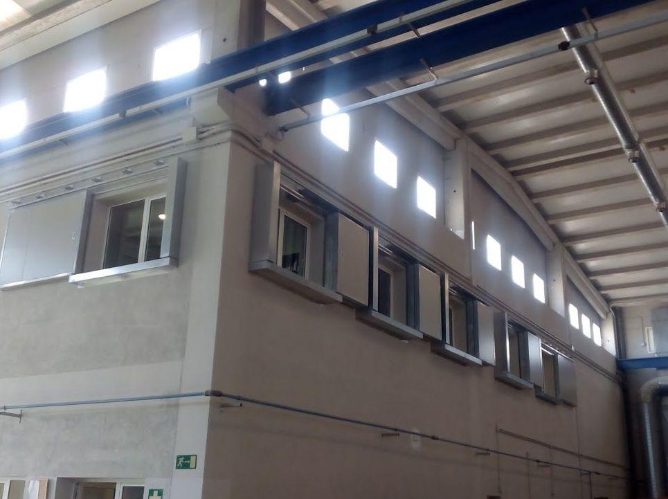 Puertas cortafuegos correderas y telescópicas certificadas para ventanas