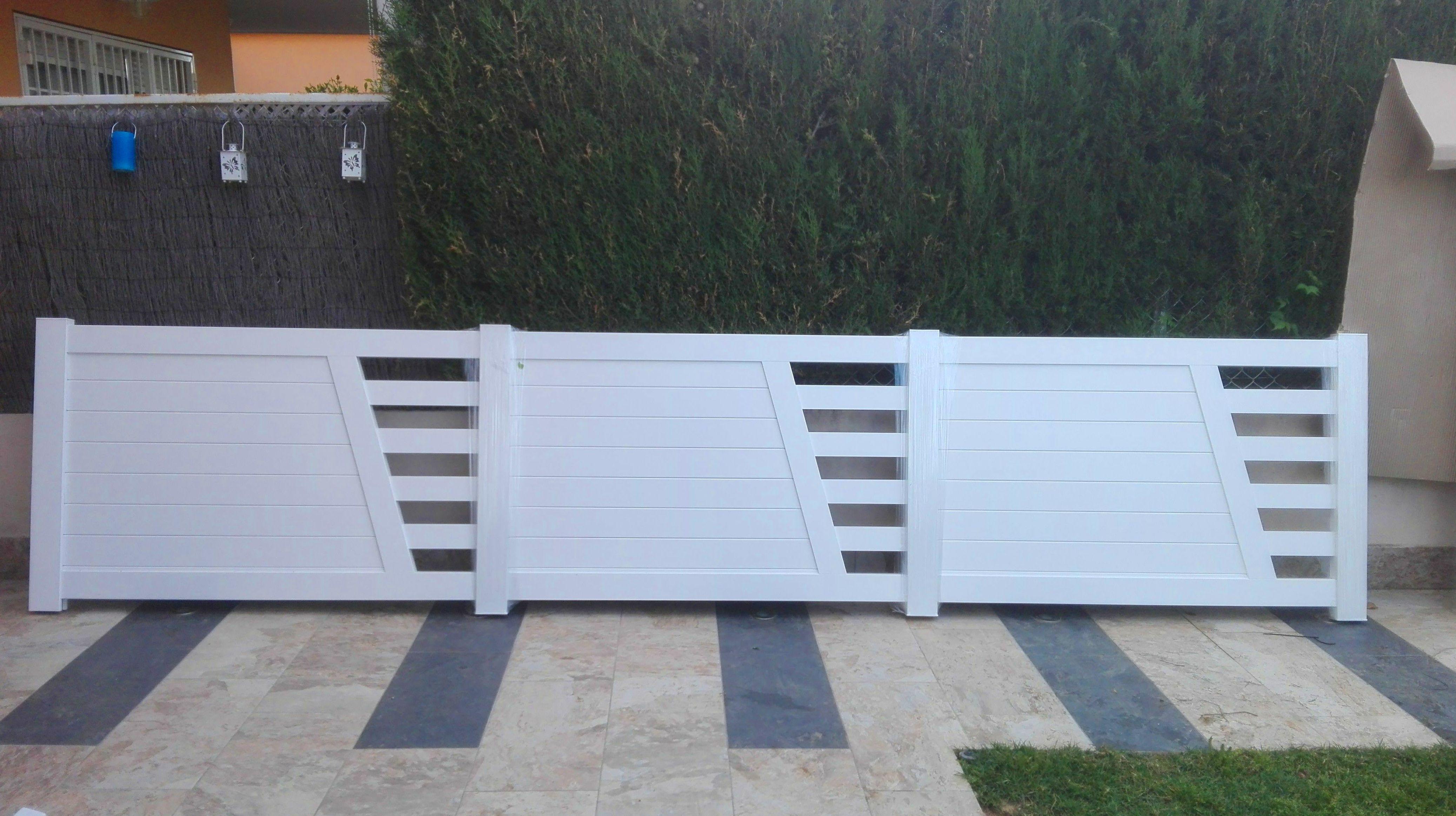 Puertas y Valla de Parcela de Alumino Blanco1 FAREM AGMA