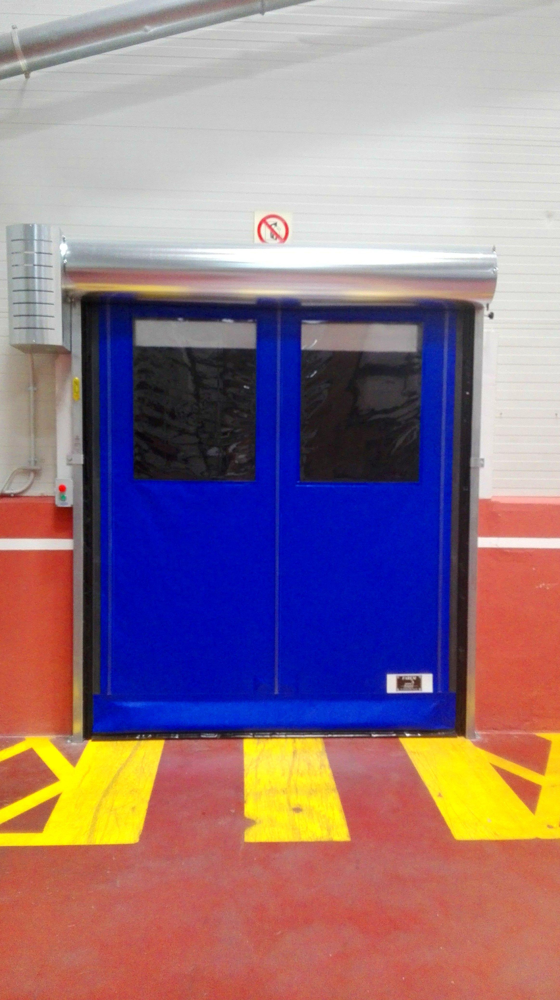 Puerta rápida enrollable autofull autorreparable Faremgies3